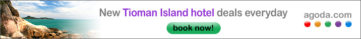 Click here to book your Tioman hotel, resort or villa now