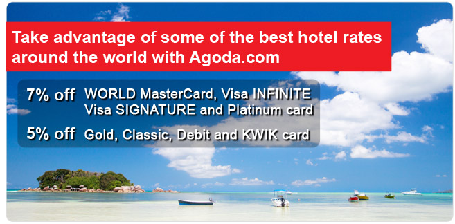 Take advantage of some of the best hotel rates around the world with Agoda.com