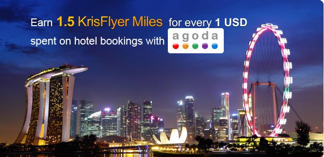 Agoda.com and Singapore Airlines KrisFlyer partnership